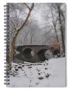 Bells Mill Bridge On A Snowy Day Spiral Notebook
