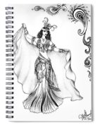 Belly Dancer With Veil. Friend Of Ameynra Spiral Notebook