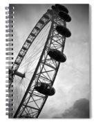 Below London's Eye Bw Spiral Notebook