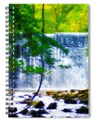 Below The Waterfall Spiral Notebook