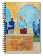 Belted Galloway Cows And People At Exeter Cathedral Spiral Notebook