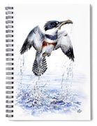 Belted Kingfisher Spiral Notebook