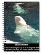 Beluga Whale Poster Spiral Notebook