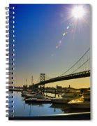 Ben Franklin Bridge From The Marina Spiral Notebook