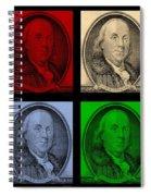 Ben Franklin In Colors Spiral Notebook
