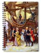 Ben Franklin Returns To Philadelphia Spiral Notebook