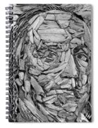 Ben In Wood B W Spiral Notebook