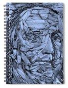 Ben In Wood Cyan Spiral Notebook