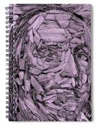 Ben In Wood Pink Spiral Notebook