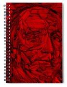 Ben In Wood Red Spiral Notebook