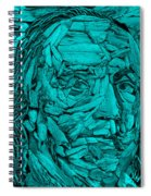 Ben In Wood Turquoise Spiral Notebook