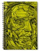 Ben In Wood Yellow Spiral Notebook