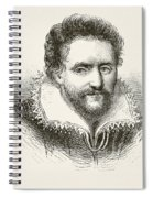 Ben Jonson 1572 To 1637. English Spiral Notebook