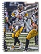 Ben Roethlisberger Pittsburgh Steelers Art Spiral Notebook