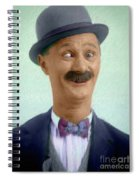 Ben Turpin, Vintage Comedy Actor Spiral Notebook