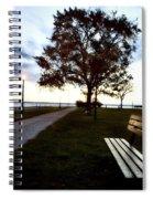 Bench And Street Light Spiral Notebook