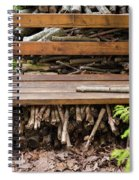 Bench And Wood Pile Spiral Notebook