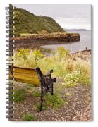 Bench At The Bay Spiral Notebook