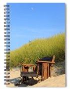 Bench At The Beach Spiral Notebook