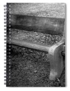 Bench By The Barn Spiral Notebook