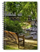 Bench By The Stream IIi Spiral Notebook