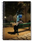 Bench For Reflection In The Night Spiral Notebook