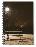 Bench For The Snowflakes Spiral Notebook