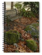 Bench In Fall Spiral Notebook