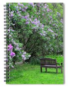 Bench In Lillacs Spiral Notebook