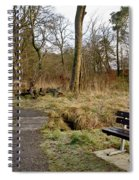 Bench In Polkemmet Park. Spiral Notebook