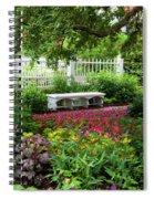 Bench In Prescott Park Spiral Notebook