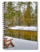 Bench Of Solitude Spiral Notebook