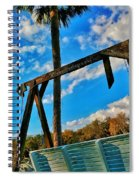 Bench On The River Spiral Notebook