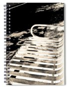 Bench Panorama In Sepia Spiral Notebook