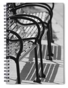 Bench Shadows Spiral Notebook