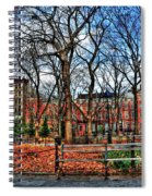 Bench View In Washington Square Park Spiral Notebook