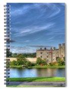 Bench View Of Leeds Castle Spiral Notebook