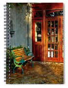 Benched In Fairhope Alabama Spiral Notebook