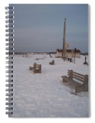 Benches At Sunset Beach Nj Spiral Notebook