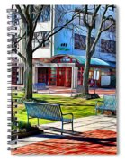 Benches Spiral Notebook