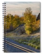 Bend In The Tracks Spiral Notebook