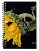 Bending Sunflower Spiral Notebook