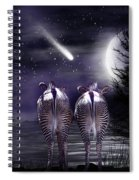 Beneath A Zebra Moon Spiral Notebook