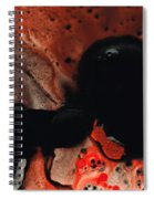 Beneath The Fire - Red And Black Painting Art Spiral Notebook