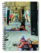 Beneath The Jacksonville Beach Pier  Spiral Notebook