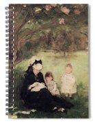 Beneath The Lilac At Maurecourt Spiral Notebook
