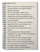 Benefits Of Using Php As Website Development Spiral Notebook