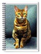 Bengal Cat Digital Oil Pastel Spiral Notebook