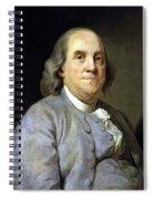 Benjamin Franklin Painting Spiral Notebook