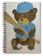 Benny Bear Baseball Spiral Notebook
